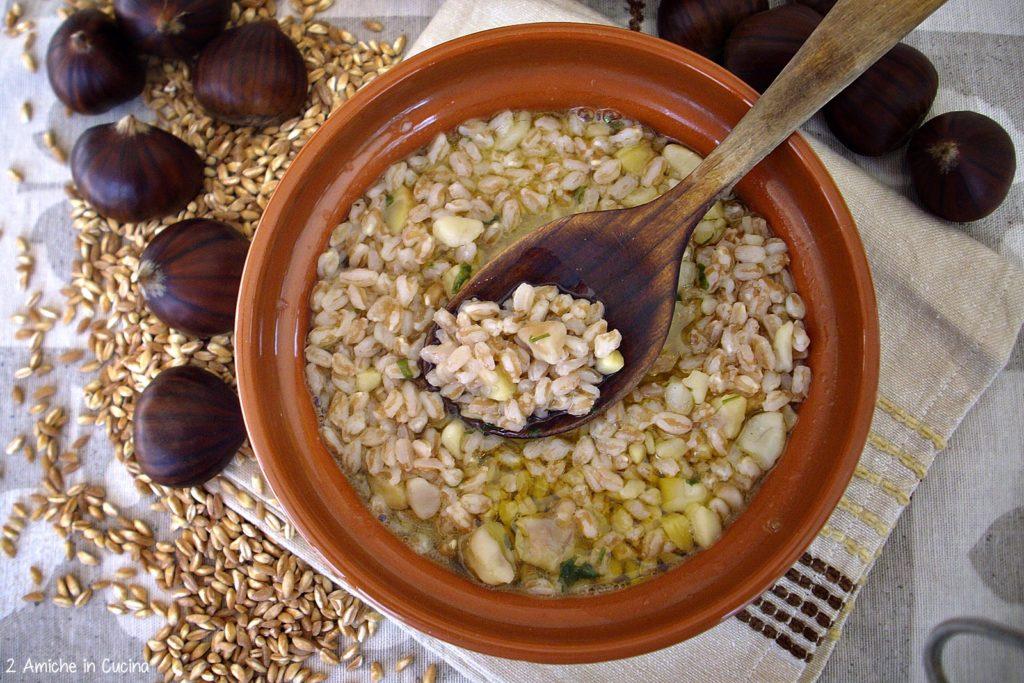Zuppa di farro e castagne – Cucina umbra