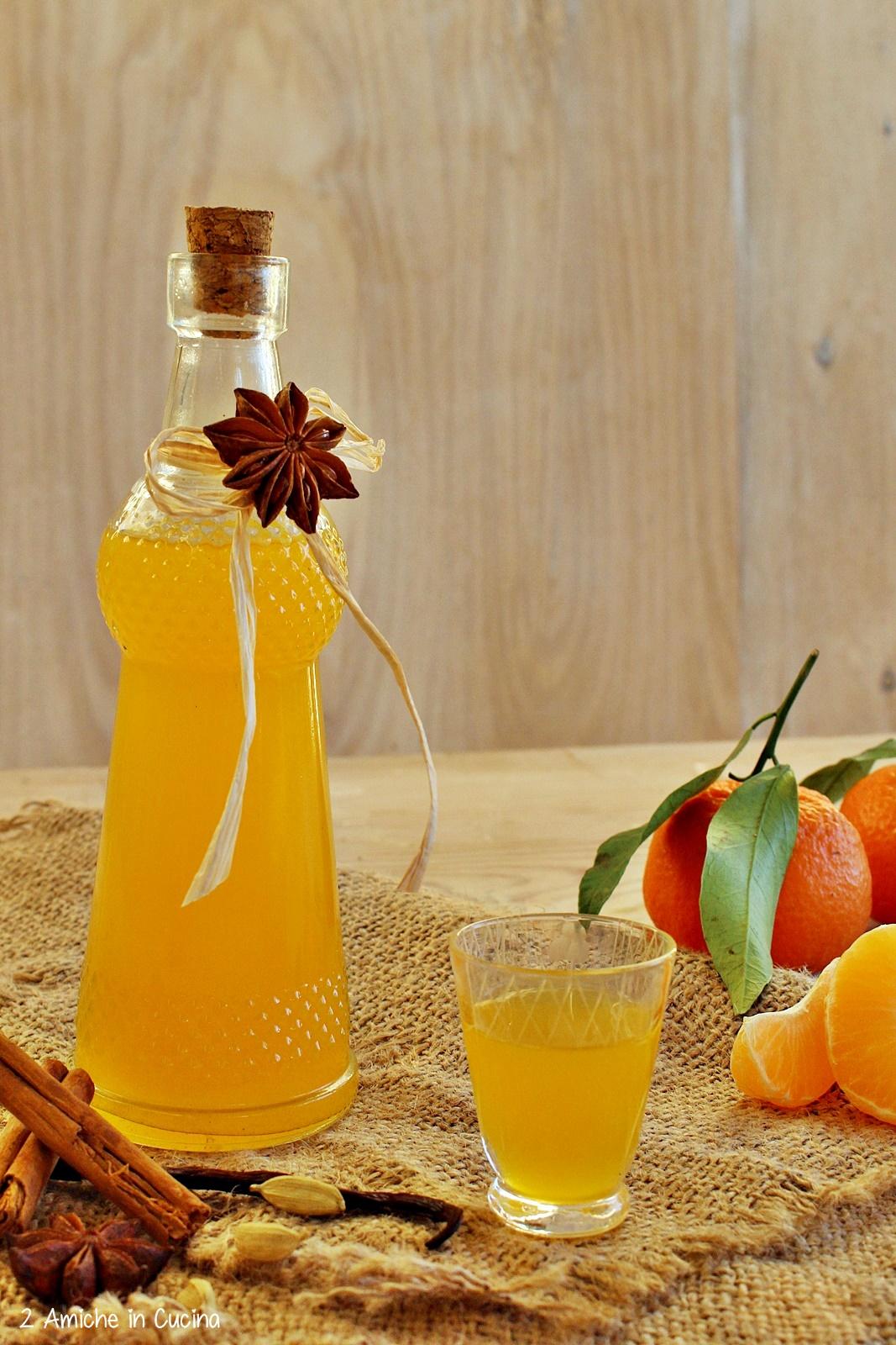 Liquore alle clementine e spezie - liquori fatti in casa