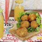 crocchette di patate, piselli e speck
