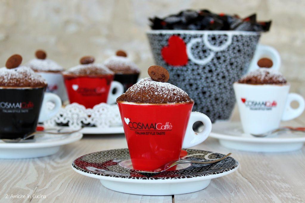 Mug cake al cacao, caffè e rum