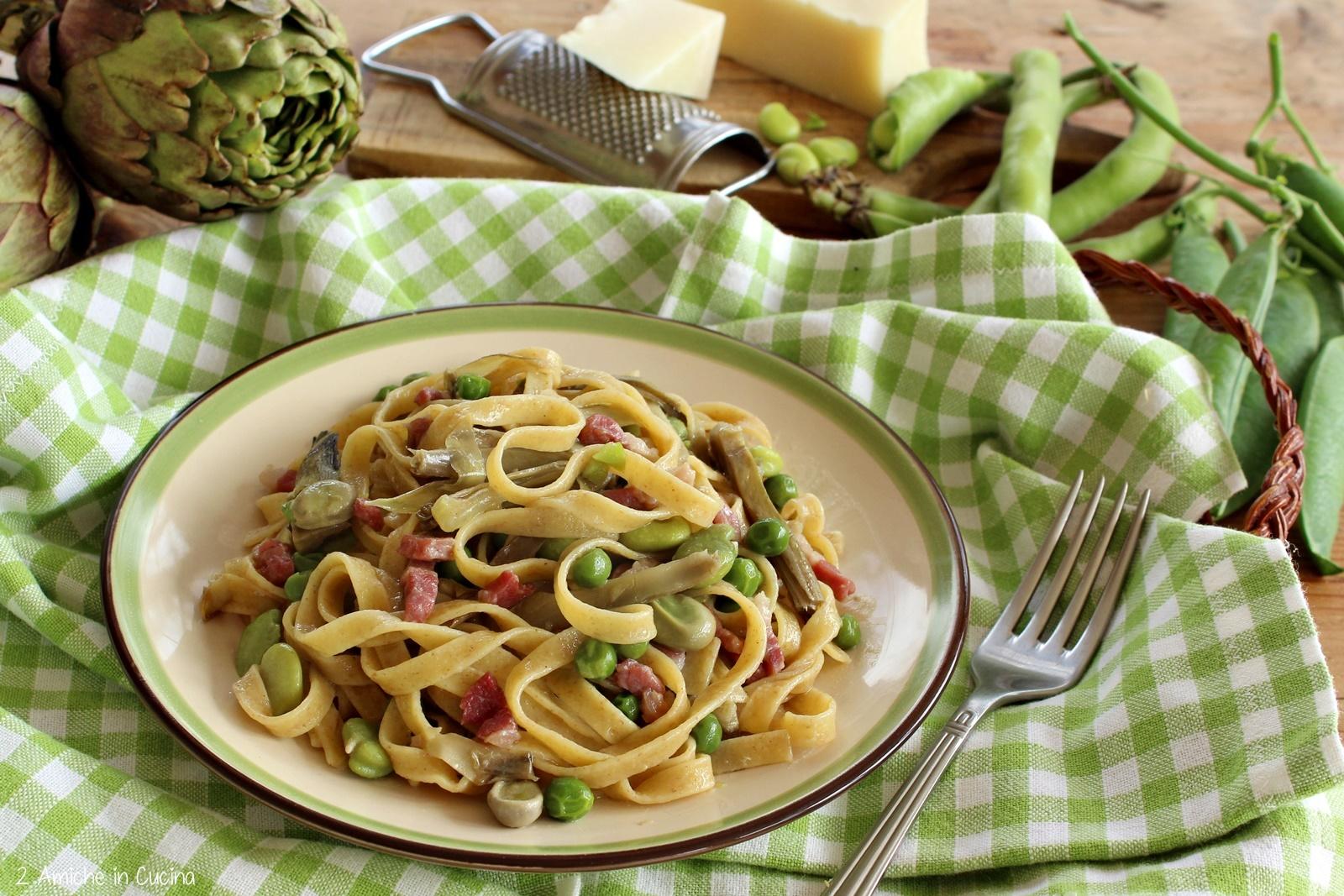 Ricetta Pasta Alla Vignarola.Tagliatelle 5 Cereali Alla Vignarola Ricetta Romana