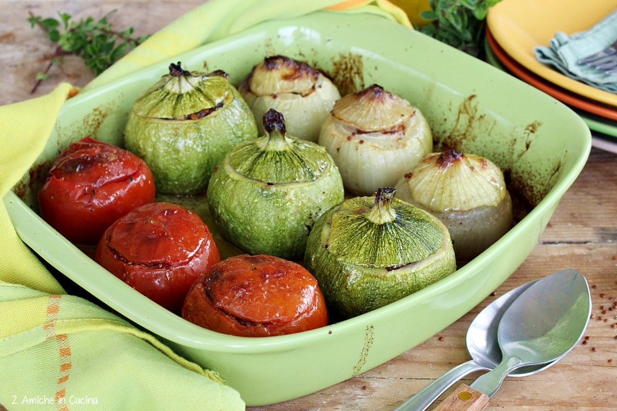 verdure ripiene- quinoa rossa- erbe aromatiche