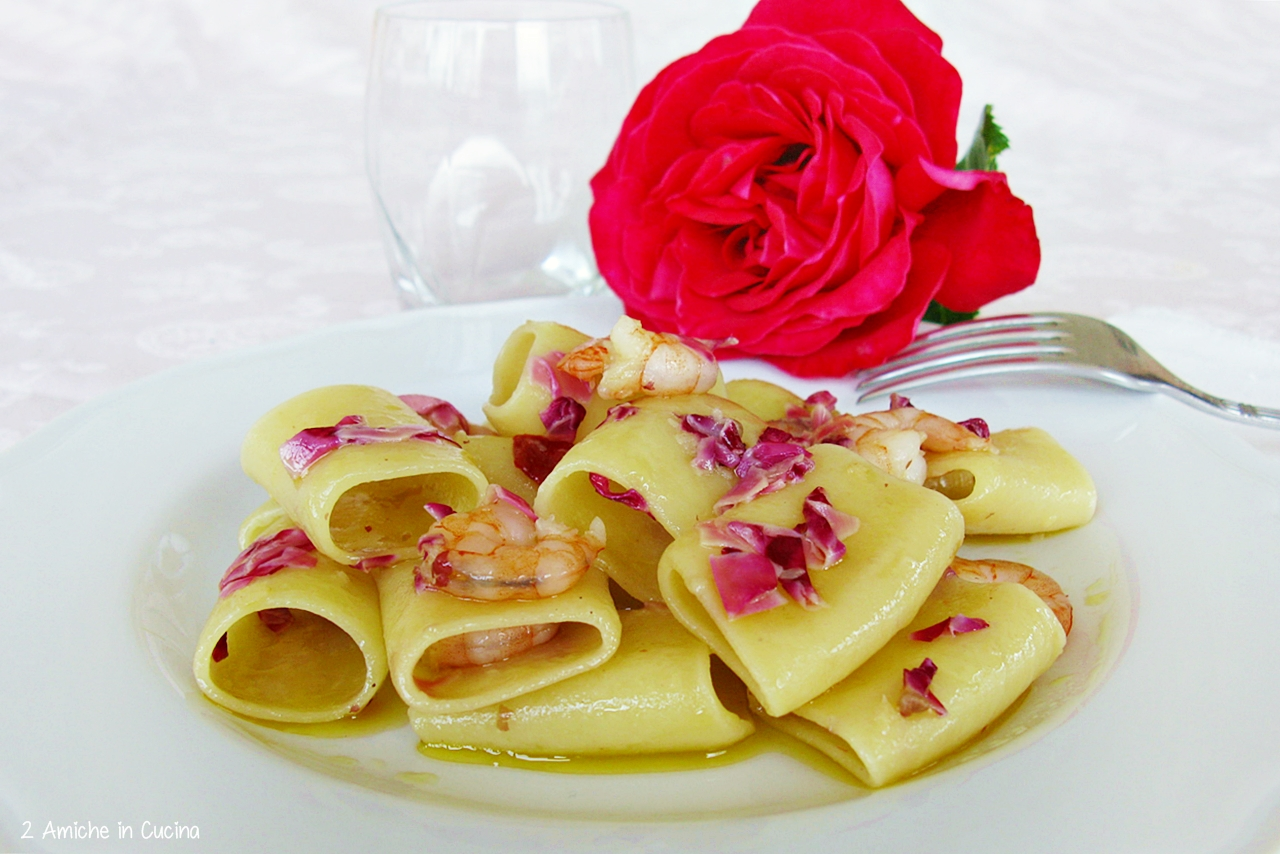 maccheroni con le rose- ricette con le rose