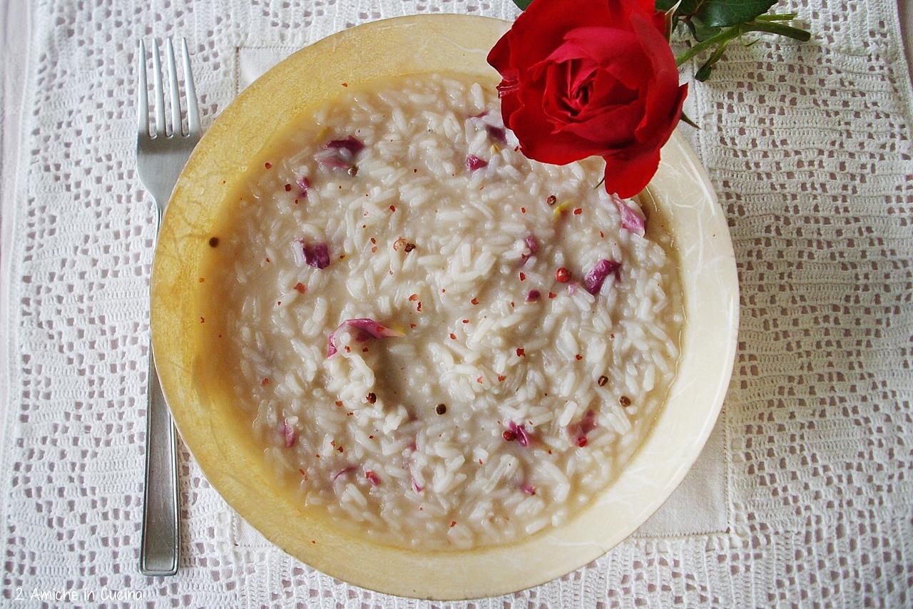 risoptto con le rose- raccolta ricette con le rose
