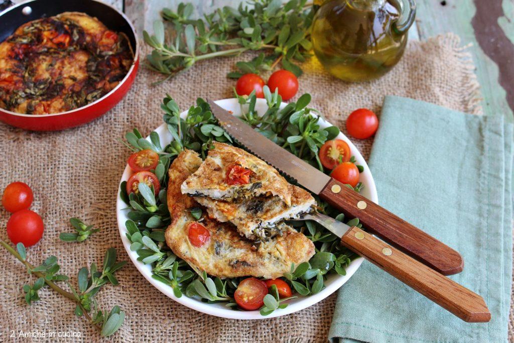 ricetta della frittata con portulaca