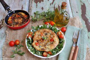 Frittata con portulaca e pomodorini