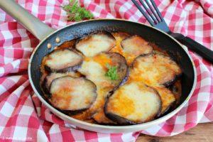parmigiana di melanzane in padella, senza forno
