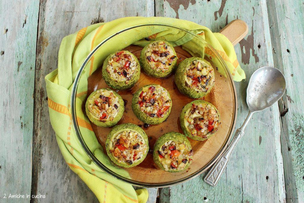 Zucchine tonde ripiene, ricetta vegan