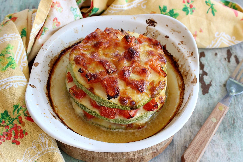 parmigiana di zucchine leggera, senza frittura