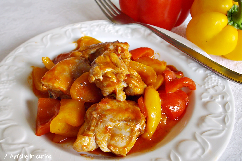menù di Ferragosto Pollo coi pepeproni
