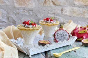 Budino di perle di tapioca ai frutti esotici