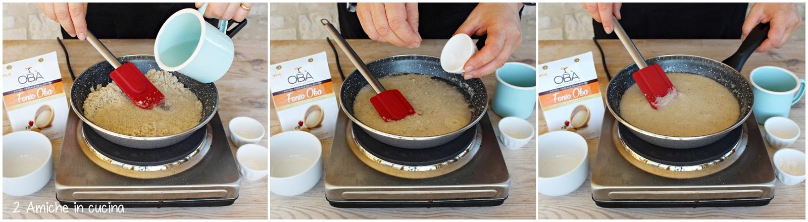 Torta di fonio e nocciole, senza glutine, senza burro, senza zucchero e senza lievito