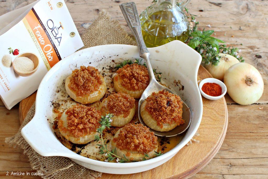 Cipolle gratinate al fonio e paprica, ricetta con cipolla di Cannara