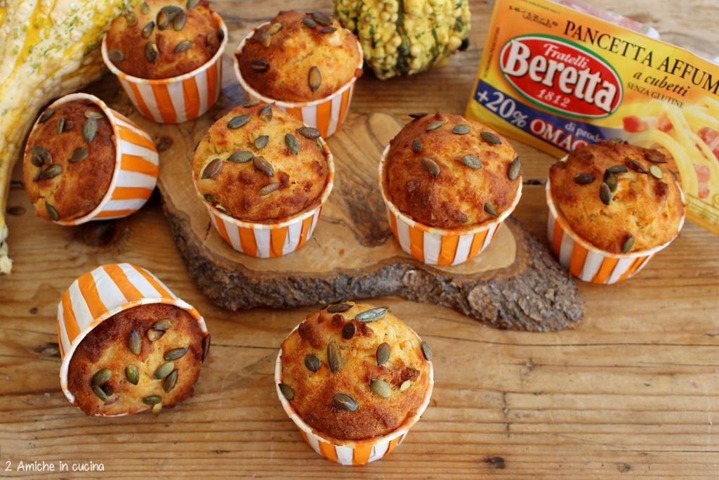 Muffin salati alla zucca e pancetta affumicata Beretta, senza glutine