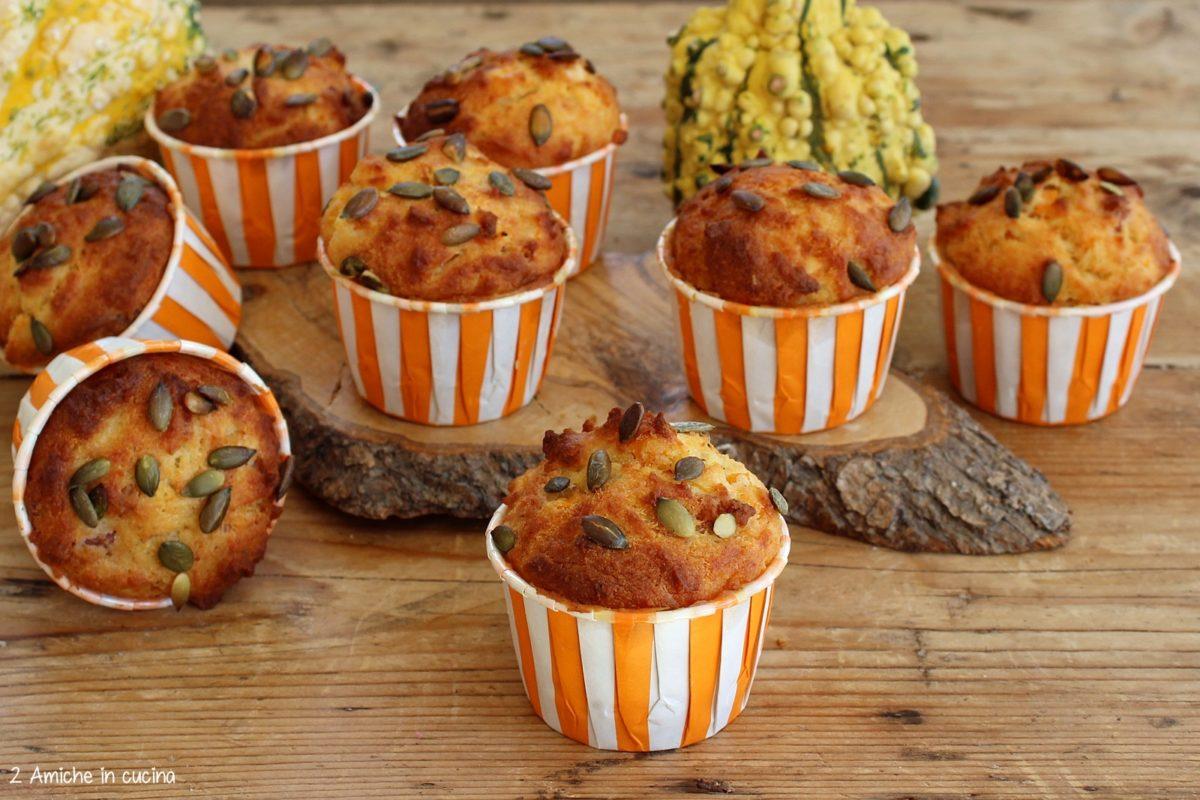 Muffin salati zucca e pancetta affumicata Beretta, senza glutine