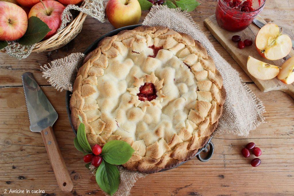 Torta di mele e corniole, torta di frolla simil torta di mele di Nonna Papera