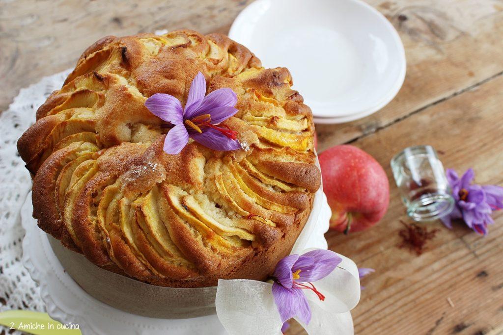 Torta di mele e zafferano purissimo umbro