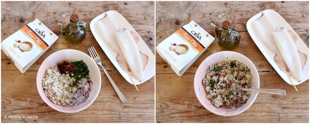 Calamari ripieni di fonio e pomodori secchi, ricetta senza glutine