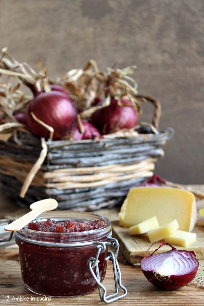 Confettura di cipolle rosse di Cannara da abbinare a formaggi stagionati