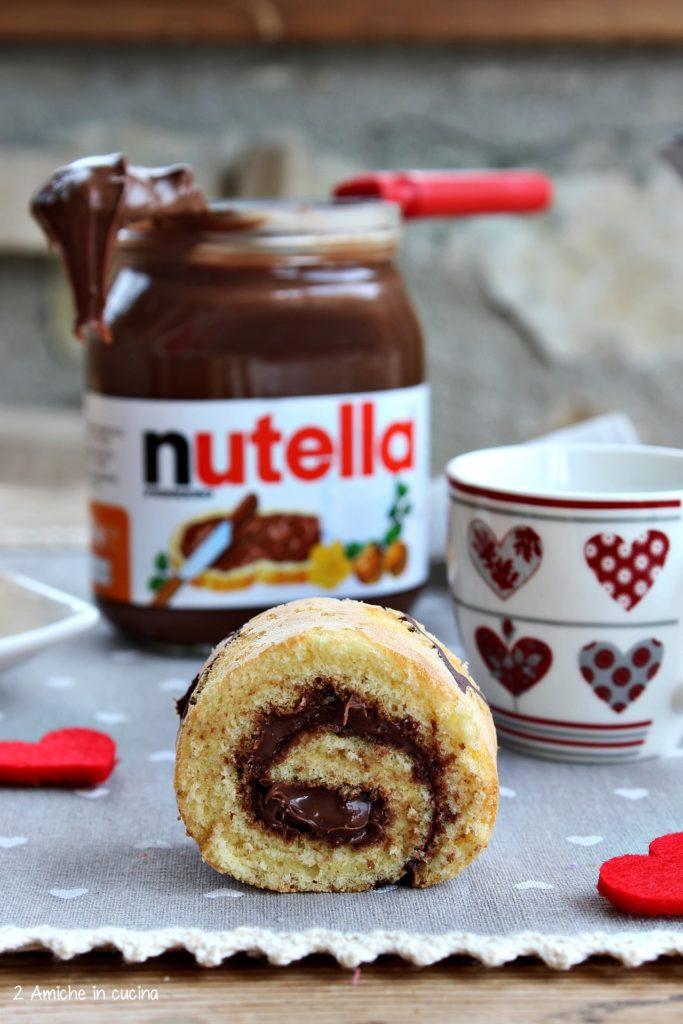 Girella alla Nutella per San Valentino