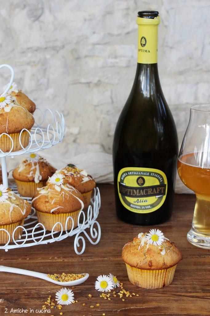 Muffin alla birra bionda con cioccolato e polline
