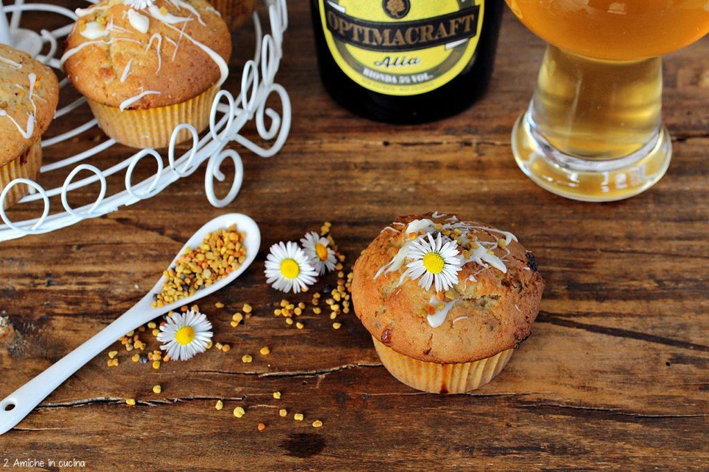 Muffin alla birra con cioccolato bianco e polline