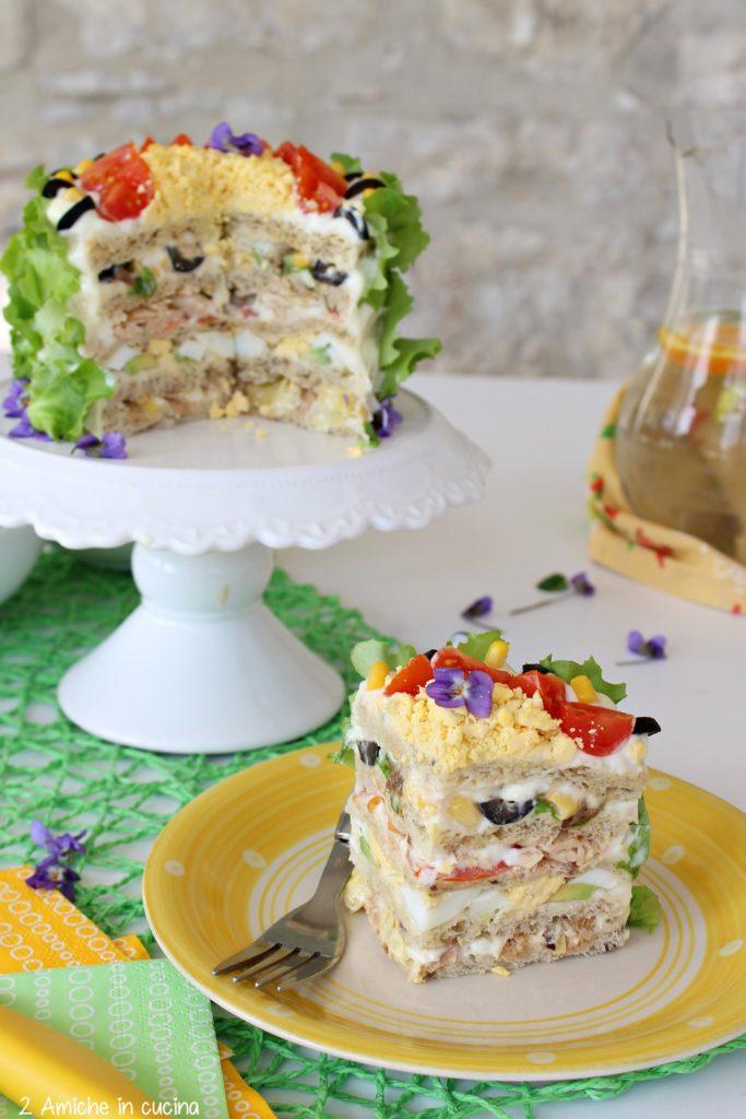 Interno della torta tramezzino