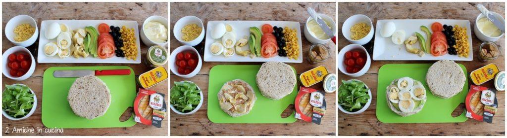Preparazione e ingredienti per la smörgåstårta la torta tramezzino svedese