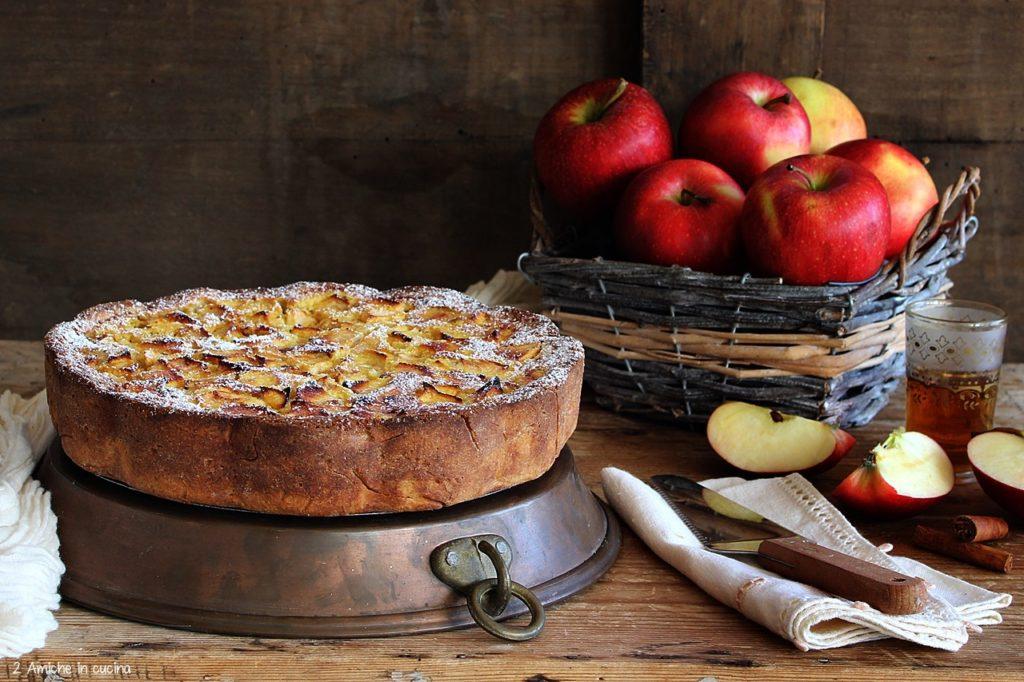 Tarte normande aux pommes, la torta di mele normanna al profumo di Calvados
