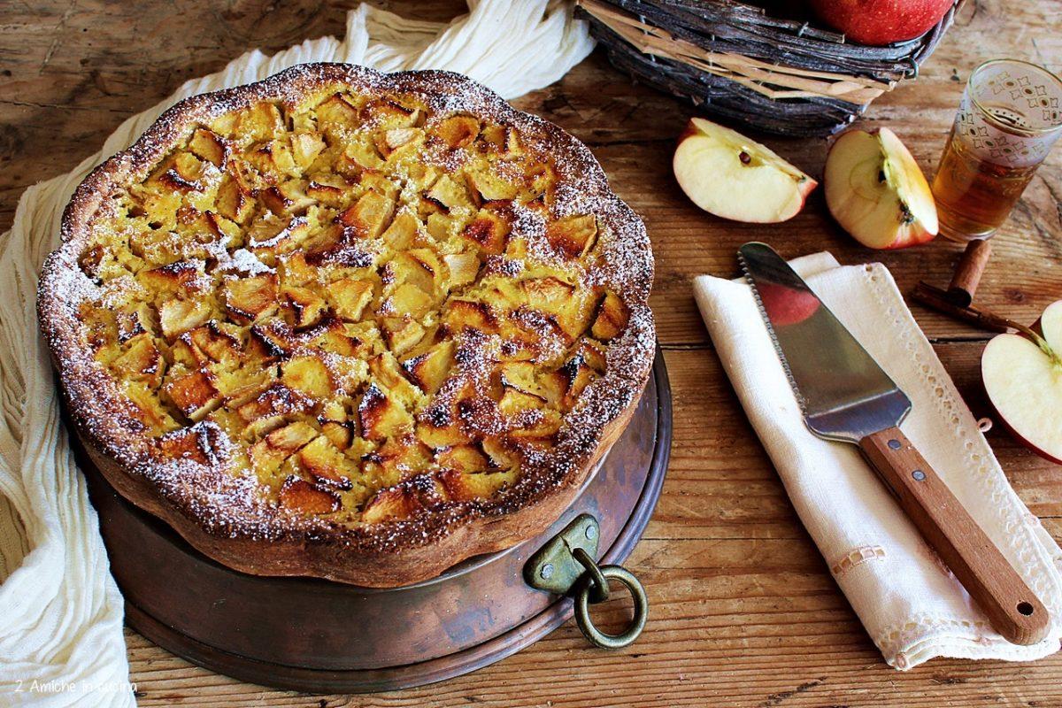 Torta di mele con crema al Calvados