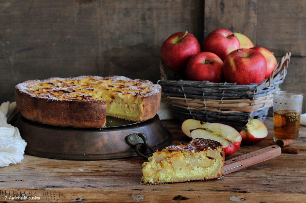 Torta di mele della Normandia, con Calvados e cannella