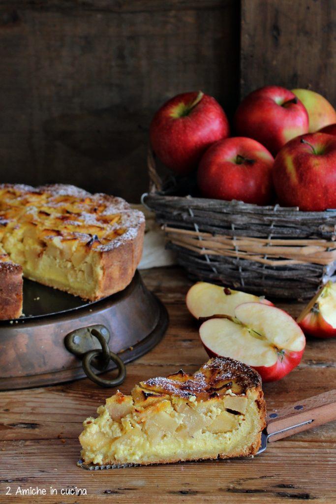 Fetta della torta di mele della Normandia