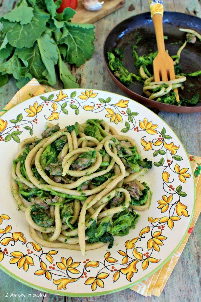 Umbrichelli di Monteleone d'Orvieto con broccoletti del lago e salsiccia