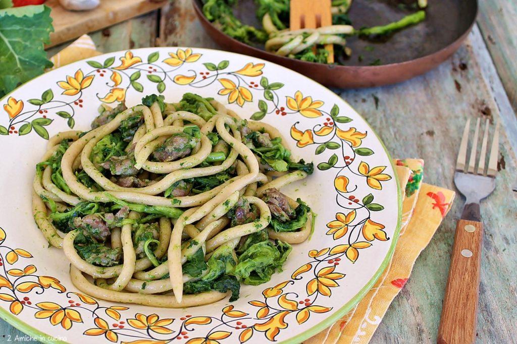 Umbrichelli con salsiccia e broccoletti del lago