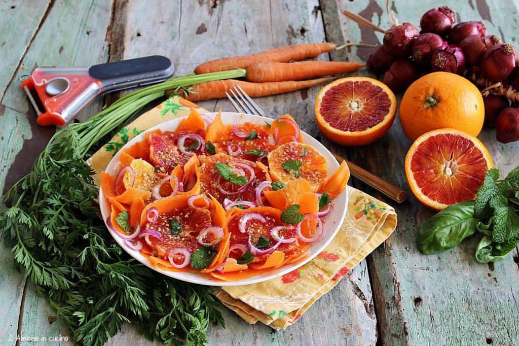 Contorno leggero con carote e arance