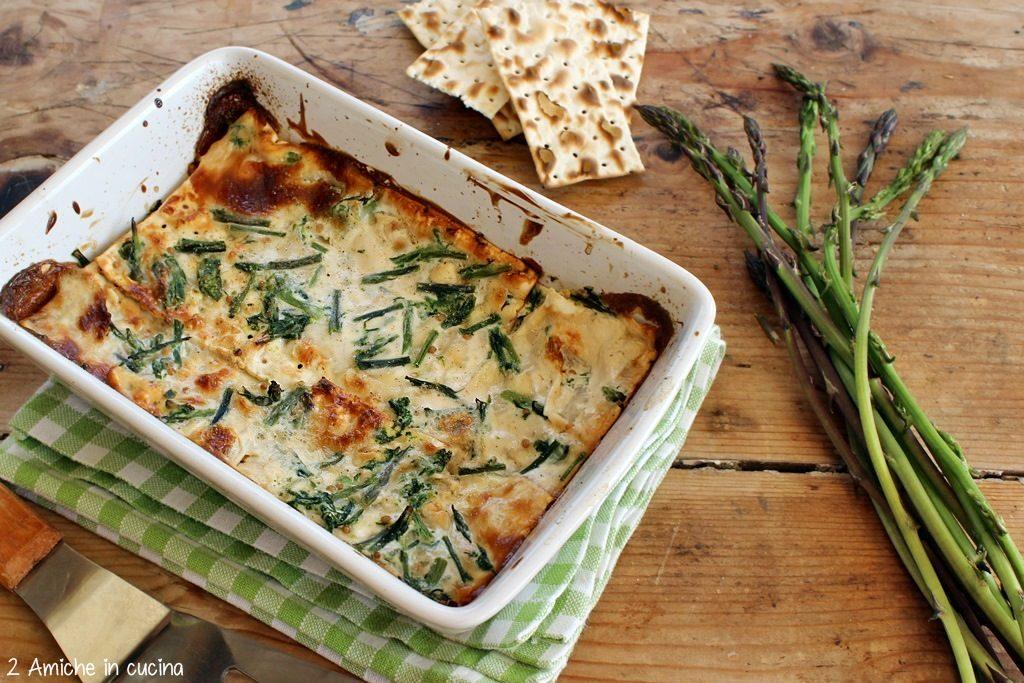 Lasagne di pane azzimo e asparagi