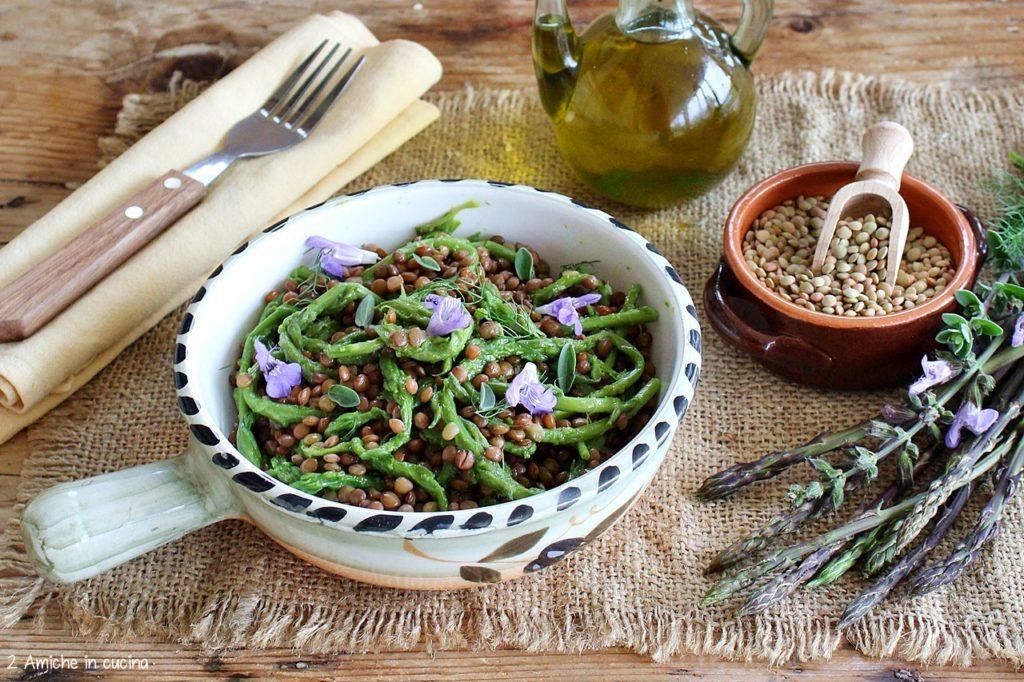 Insalata di lenticchie di Castelluccio di Norcia e asparagi
