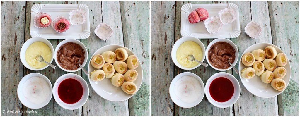 Come si preparano le pesche dolci con crema e cioccolato