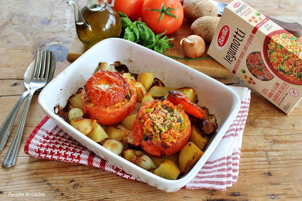 Verdure ripiene al forno con pasta di legumi