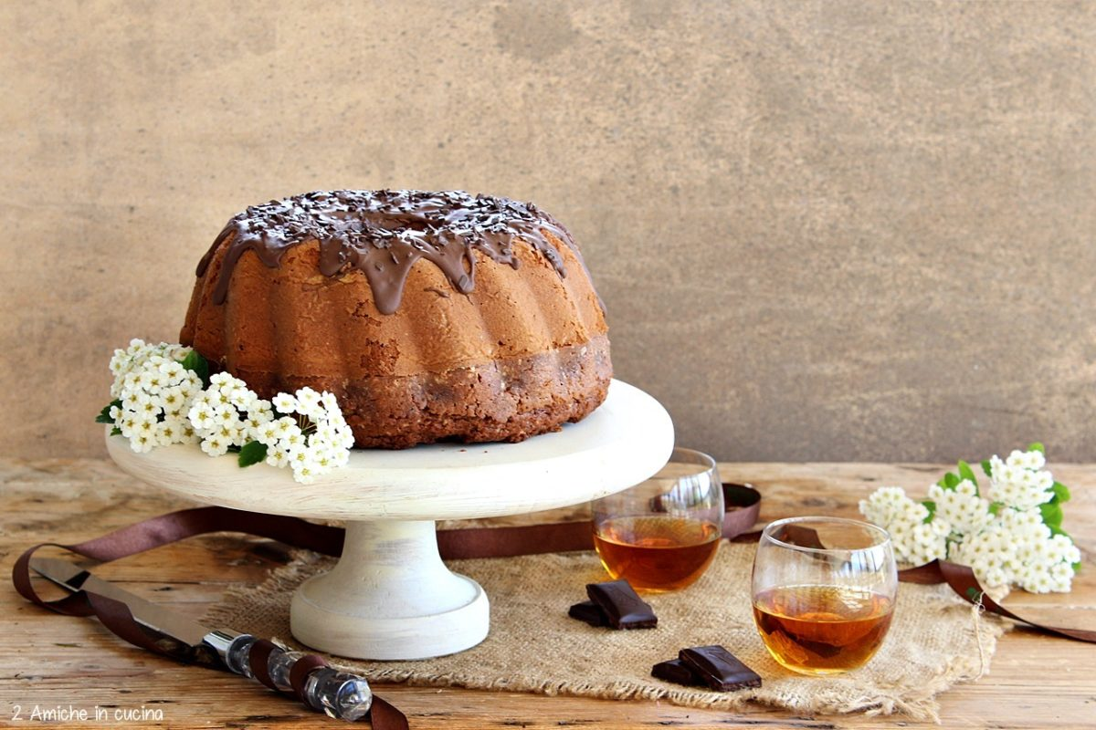 Torta al cioccolato e whisky per il whisky day