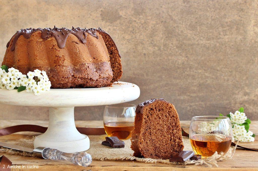 Torta senza lattosio con cioccolato e whisky