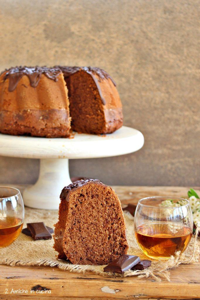 torta al whisky con cioccolato fondente