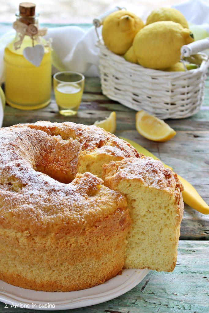 Chiffon cake al limoncello, torta senza lattosio