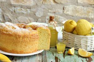 Chiffon cake al limoncello
