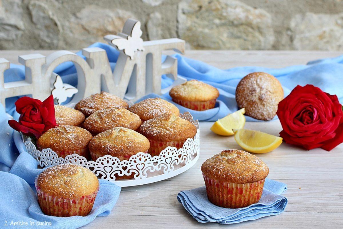 Muffin al limone facilissimi senza lattosio