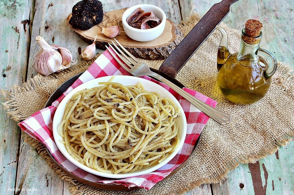spaghetti veloci con tartufo scorzone