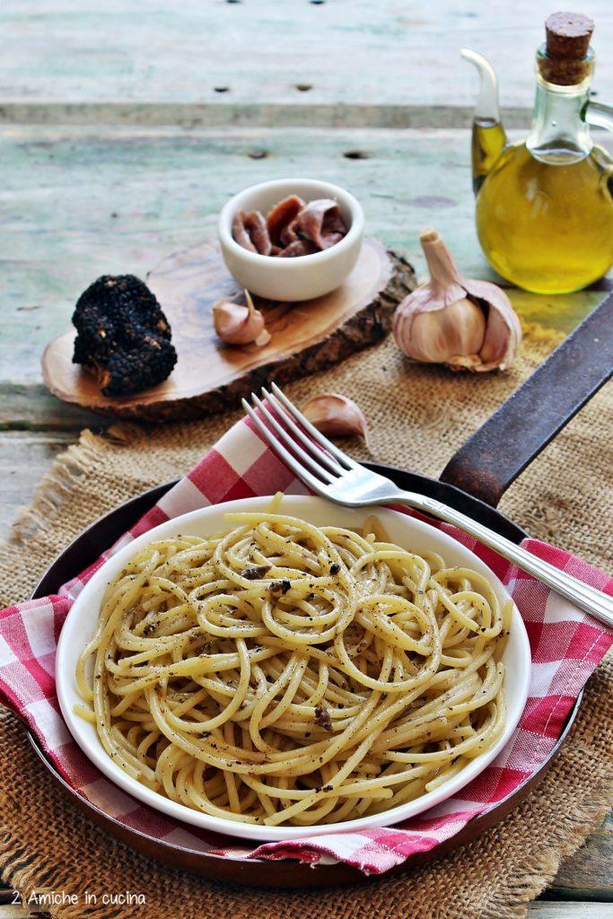 spaghetti con tartufo scorzone