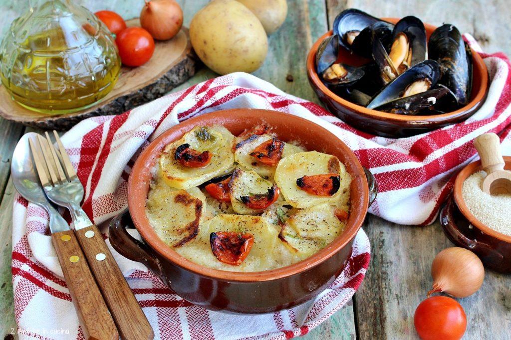 Fonio patate e cozze – tiella barese a modo mio