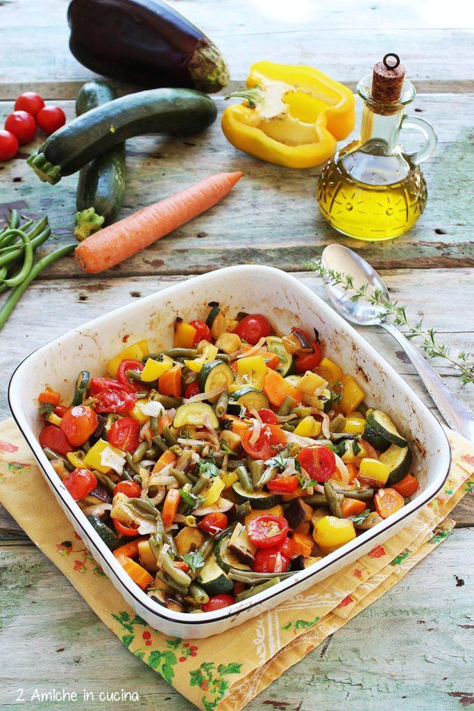 verdure estive cotte in forno
