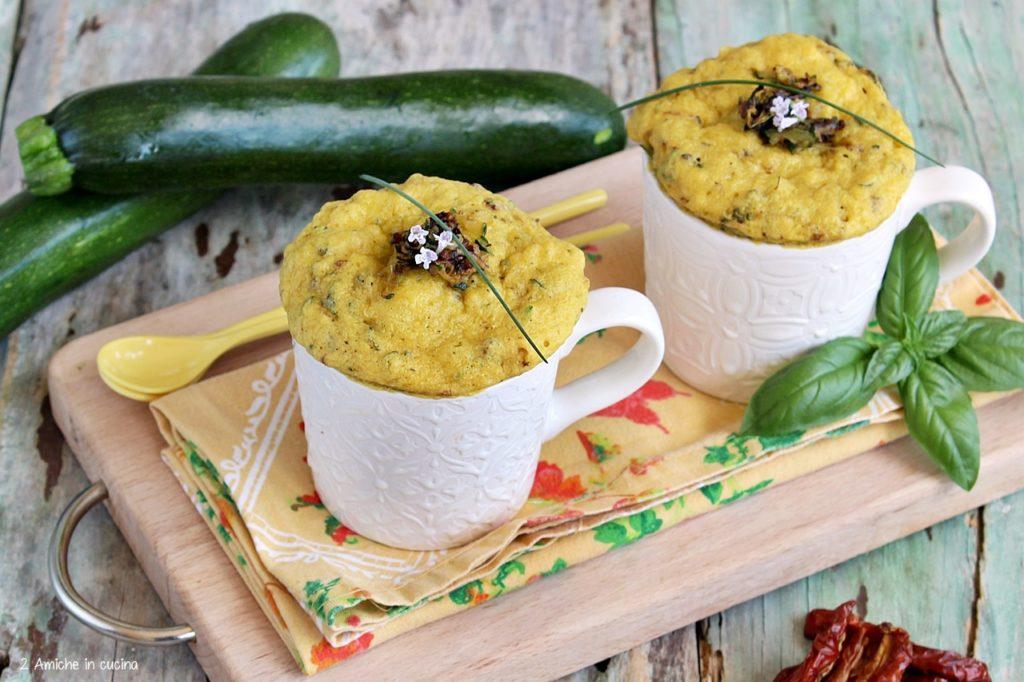 Mug cake salate cotte nel microonde